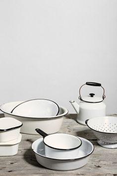 Vintage Enamelware Kitchen Set