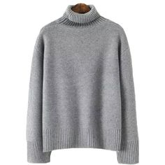 'Heike' Turtleneck Sweater (4.145 RUB) ❤ liked on Polyvore featuring tops, sweaters, turtle neck top, polo neck top, turtleneck sweater, cotton knit sweaters and polo neck sweater