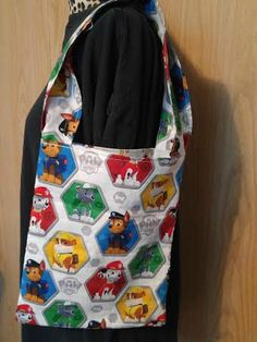 Paw Patrol library bag, children's library bag, dog library bag, book tote, book bag, Paw Patrol book bag, Paw Patrol trick or treat bag by RoseCityCrafter on Etsy