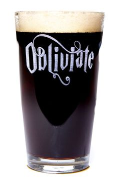 Obliviate Harry Potter Inspired Pint Size Beer Glass