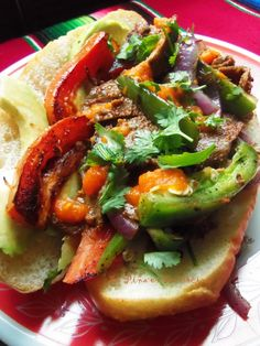 Milanesa Steak Sandwiches with Habanero Salsa~(Torta de Milanesa)-Quick Meals