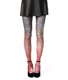 Galaxy Tights, Crimson Galaxy (image from the Hubble, you guys!) $32