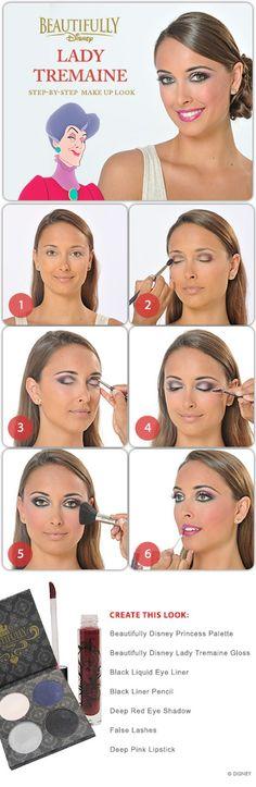 Lady Tremain Makeup Tutorial perfect makeup look for halloween