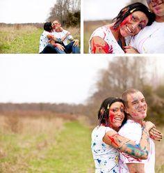 Paint Party Engagement Photos