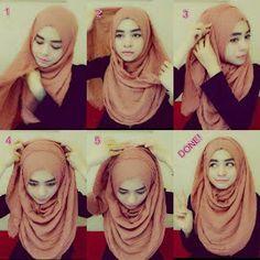 arab hijab tutorial, doing it in the other direction may also work arab hijab t. arab hijab tutorial, doing it in the other direction may also work arab hijab tutorial, doing it i Simple Hijab Tutorial, Hijab Style Tutorial, How To Wear Hijab, Stylish Hijab, Muslim Women Fashion, Eid Outfits, Scarf Styles, Hijab Styles, Muslim Dress