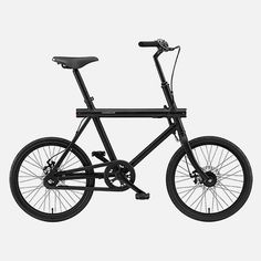 The T series urban compact cruiser bicycle from Vanmoof, features 2 gears, an anodized aluminum frame, front and rear disc brakes, a weather...