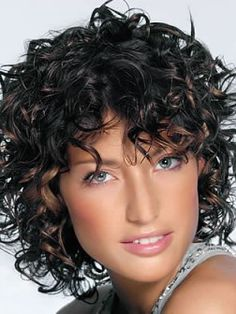 lovely curly hairstyle with bangs