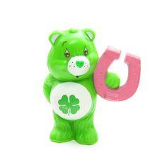 Good Luck Bear Holding a Lucky Horseshoe miniature figurine