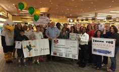 A huge group of schools came out to Sykesville, MD to let Safeway know how much the eScrip program means to them!
