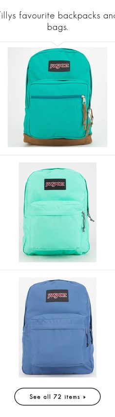 """""""Tillys favourite backpacks and bags."""" by crazygirlandproud ❤ liked on Polyvore featuring bags, backpacks, accessories, purses, mochilas, spanish teal, rucksack bag, backpack bag, teal bag and blue backpack"""