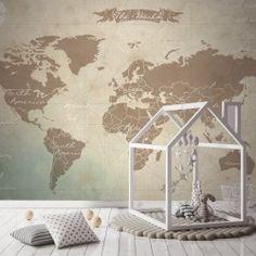 Fotomural mapamundi vintage
