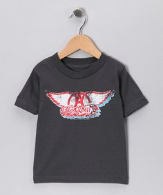 For my little rocker chick!  Take a look at this Charcoal 'Aerosmith' Tee - Toddler & Kids by Rock Band: Tees & Bodysuits on #zulily today!