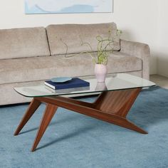 Shop glass coffee table from west elm. Find a wide selection of furniture and decor options that will suit your tastes, including a variety of glass coffee table. Coffee Table Design, Unique Coffee Table, Walnut Coffee Table, Round Coffee Table, Coffee Table Books, Coffee Table With Storage, Modern Coffee Tables, Mid Century Coffee Table, Glass Wood Coffee Table