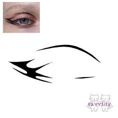 Edgy Makeup, Makeup Eye Looks, Eye Makeup Art, No Eyeliner Makeup, Makeup Trends, Makeup Inspo, Anime Cosplay Makeup, Makeup Drawing, Dragon Tattoo Designs