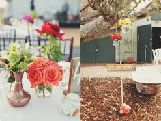 Grandchester, Australia Garden Wedding: Amy & Charlie - Our colour palette was vintage white, ivory with accents of burnt oranges, reds and vintage jades.
