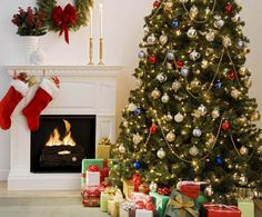Christmas and New Year compositions stock image HD