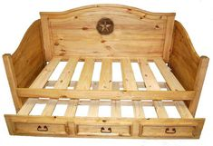 Trundle Daybed W/ Star   Rustic Furniture   Great Western Furniture Co.