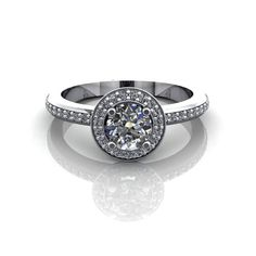 Diamond+Halo+Engagement+Ring+3/4ct+White+Gold+Yellow+by+spexton,+$1,095.00