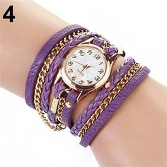 Multilayered ChainLeather Bracelet Wristwatches