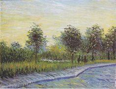 Way+in+the+Voyer+d'Argenson+Park+in+Asnieres,+1887+-+Vincent+van+Gogh