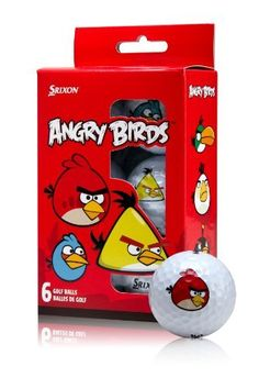 Everyone''s favorite birds can now fly on the golf course! The Srixon Angry Birds Golf Balls promote a high launch angle and shallower descent for maximum distance from the tee to the green. Angry Birds Golf Balls features: For golfers of all a Angry Birds Characters, Ping Golf Clubs, Golf Ball Crafts, Crazy Golf, Wish Gifts, Golf Gifts, Christmas Wishes, Christmas Gifts, Gifts For Kids