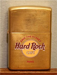 Arthur has never been to the Hard Rock cafe but finds the concept thrilling. Geeks, Cool Lighters, Cafe Logo, Vintage Ashtray, Light My Fire, Zippo Lighter, Vintage Rock, Fire Starters, Hard Rock