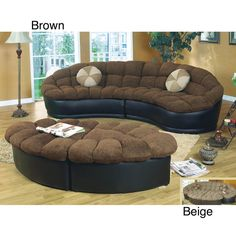 Papasan Two-piece Sectional Sofa - Overstock™ Shopping - Great Deals on Sofas & Loveseats
