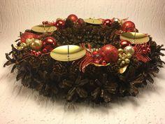 Christmas Wreath Cone WreathChristmas balls by JohansonsMasterwork