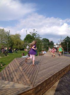 Active Benches, Valby City Garden Copenhagen Denmark, 1:1 Landskab, 2013