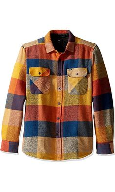 OBEY Men's Wallace Woven Shirt, Brown/Multi, L Best Price