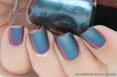 Very Emily » I Love Nail Polish – Ultra Chromes Swatches.  MY LITTLE GLACIER (shown underwater to see entire color shift)