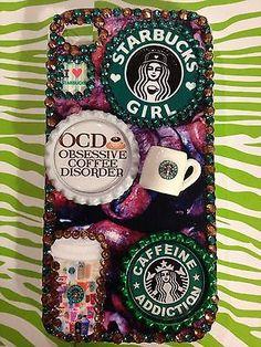 Starbucks Phone Case For Iphone 4 4s 5 5s Coffee Caffeine Bling