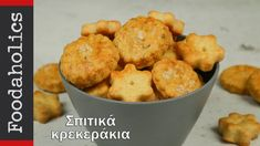 Σπιτικά κρακεράκια για όλες τις ώρες | foodaholics - YouTube Greek Recipes, Finger Foods, Biscuits, Muffin, Cookies, Breakfast, Youtube, Breakfast Cafe, Muffins