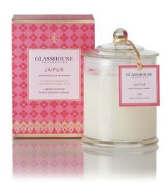 "Glasshouse ""Jaipur"" Limited Edition - Honeysuckle & Amber Candle. Desperately want this as well <3"