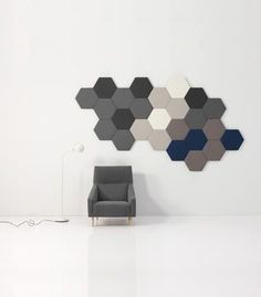 Instyle is a leading supplier of high-quality, design-driven interior products including acoustic panels, modular tile systems, textiles, leathers and wallcoverings. Interior Walls, Interior Design, Acoustic Wall Panels, Casa Patio, Home Studio Music, Decorative Panels, Ceiling Design, Tile Design, Home Accessories
