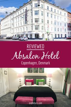 A colourful stay at Copenhagen's Absalon Hotel in Denmark, a big hotel with a boutique feel, where Scandinavian design meets Designer's Guild decor