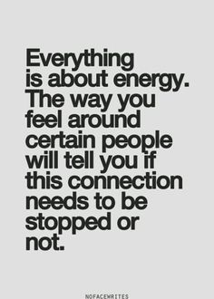 It's all about energy..........