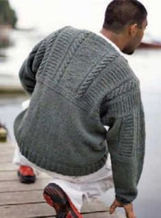 Free Knitting Patterns You Have to Knit Every guy will love this knitted sweater, so learn how to knit it in this free knitting for men eBook from Knitting Daily. Knitting Daily, Free Knitting, Knitting Yarn, Knitting Sweaters, Mens Cable Knit Sweater, Men Sweater, Knit Cardigan, Sweater Knitting Patterns, Men's Knits