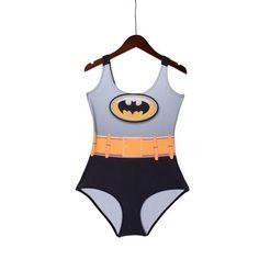 Women Custom Tankinis BATMAN Bodysuit SWIMSUIT Digital Printing Swimwear Hot Black - Hespirides Gifts - 1