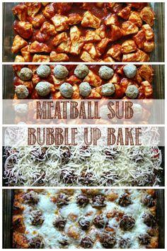 Meatball Sub Bubble Up Bake