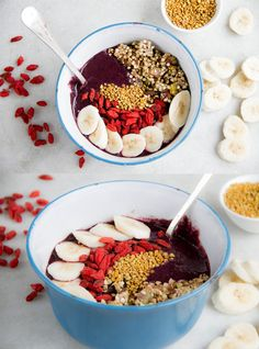 Need an idea for breakfast?  Try this healthy and tasty raw Acai Berry Breakfast Bowl.  What a great way to start your day!