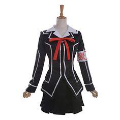 Zainspirowany+przez+Vampire+Knight+Yuki+Kuran+Anime+Kostiumy+cosplay+Garnitury+cosplay+/+Mundurki+szkolne+Patchwork+Černá+Długi+rękaw+–+USD+$+48.99
