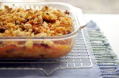 Spicy Sweet Potato and Bacon Casserole