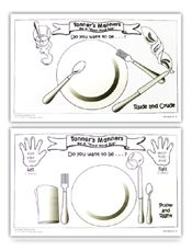 Great tips for dinner conversation etiquette using these for our