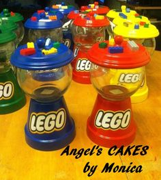 Fashion and Lifestyle Clay Flower Pots, Flower Pot Crafts, Clay Pot Crafts, Crafts For Boys, Crafts To Make And Sell, Candy Jars, Candy Dishes, Diy Gumball Machine, Lego Candy