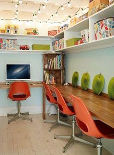 Eclectic Home Office Design Ideas, Pictures, Remodel and Decor Home Office Design, Home Office Decor, House Design, Home Decor, Office Ideas, Office Set, Design Web, Floor Design, Graphic Design