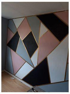 Bedroom Wall Designs, Room Design Bedroom, Room Ideas Bedroom, Home Room Design, Teen Wall Designs, Diy Bedroom, Room Wall Painting, Room Paint, Wall Painting Design