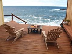 Beach House Front Porch in Depoe Bay, Oregon