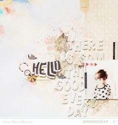 layout by #annamariawolniak using #studiocalico #monthlyscrapbookkit #valleyhigh