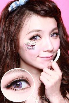 G&G Natural 3 Tone Violet Circle Lenses (Colored Contacts)